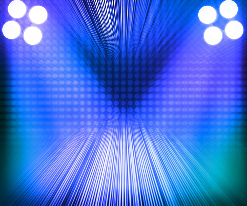Blue Show Room Spotlights Stage Background