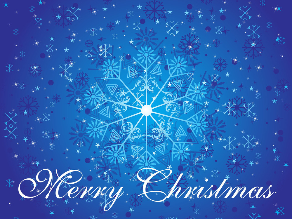 Blue Snowflake Background For Christmas