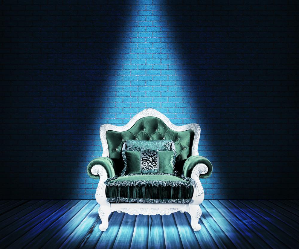 Blue Sofa Interior Backdrop