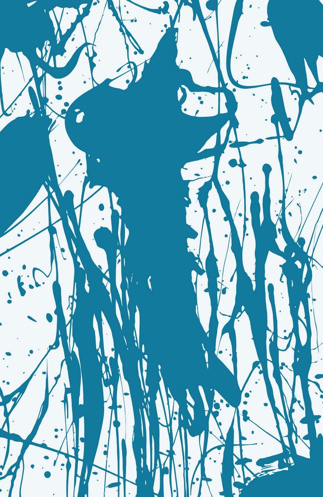 Blue Splashing Ink