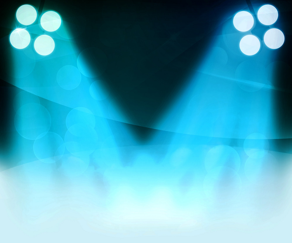 Blue Spotlight Background