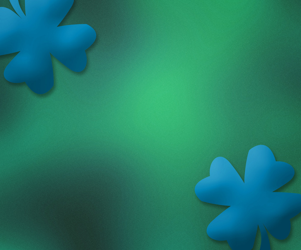 Blue St. Patrick's Day Simple Background