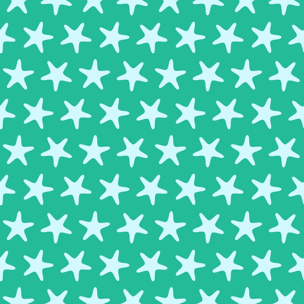 Blue Starfish Beach Pattern