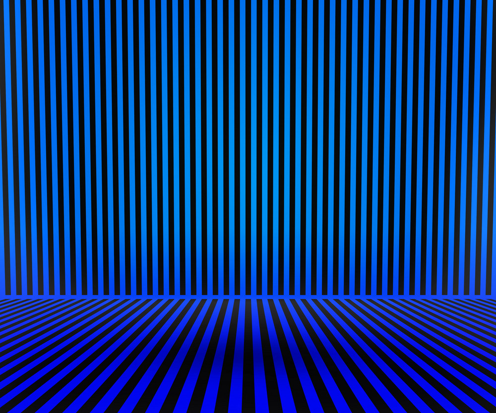 Blue Striped Room Background