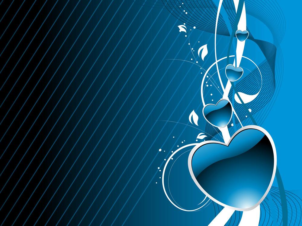 Blue Valentine Day Background