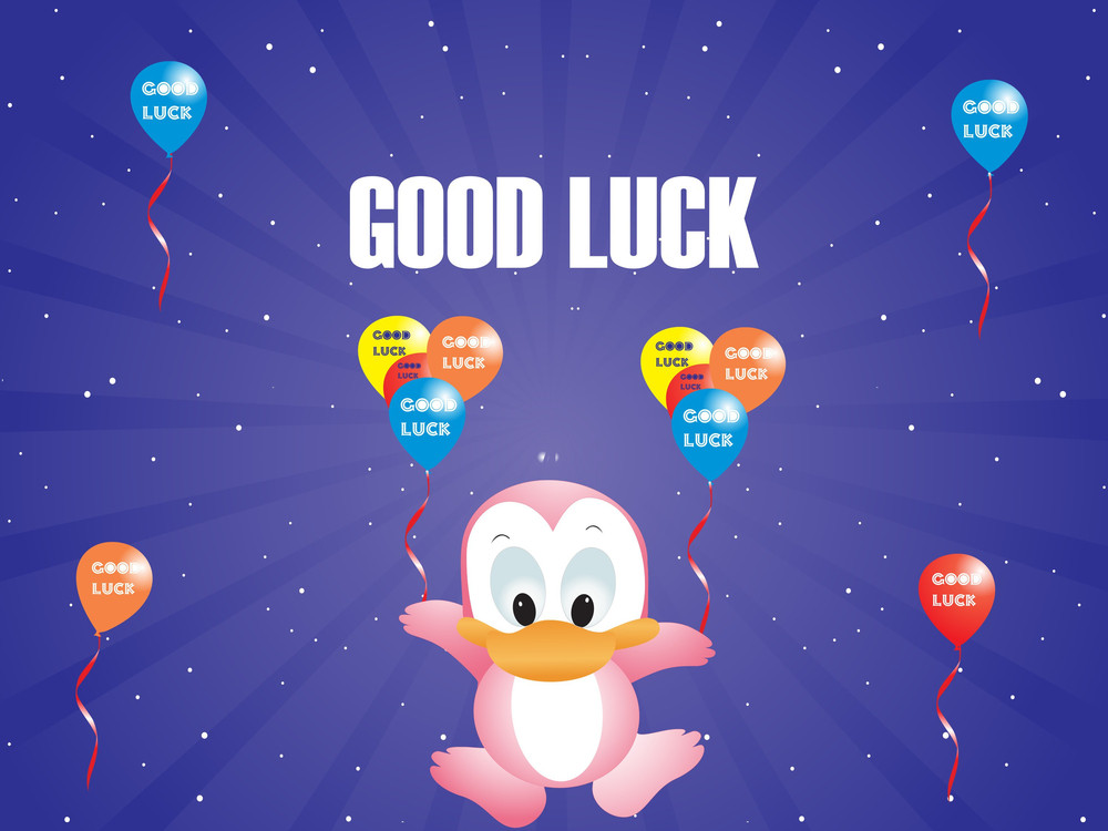 Blue Vector Background With Colorful Flying Balloons And Duck