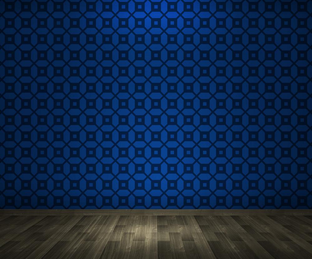 Blue Vintage Interior Background