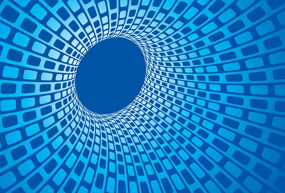 Blue Vortex. Vector Background.