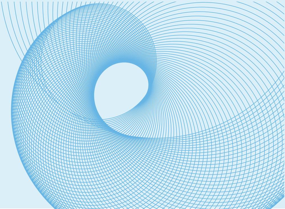 Blue Vortex. Vector.