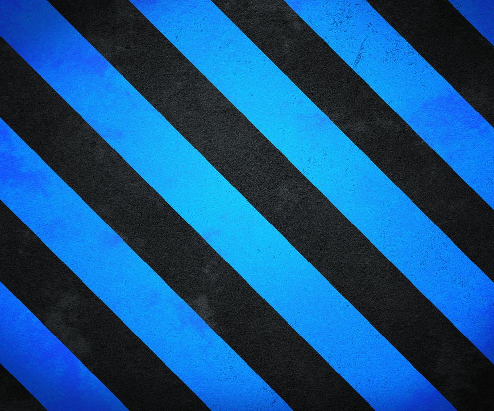 Blue Warning Stripes Background