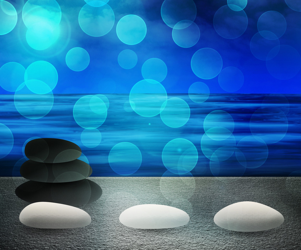 Blue Water Spa Background