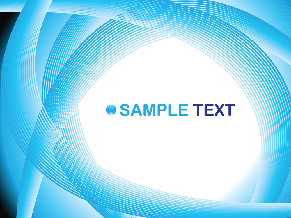Blue Wave Illustration With Sample Text