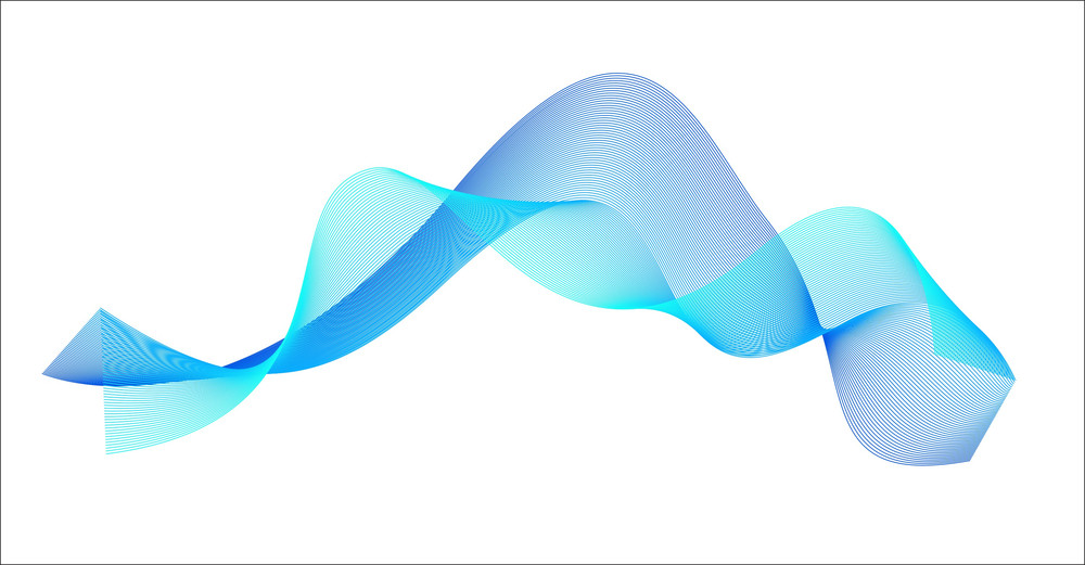 Blue Wave Lines