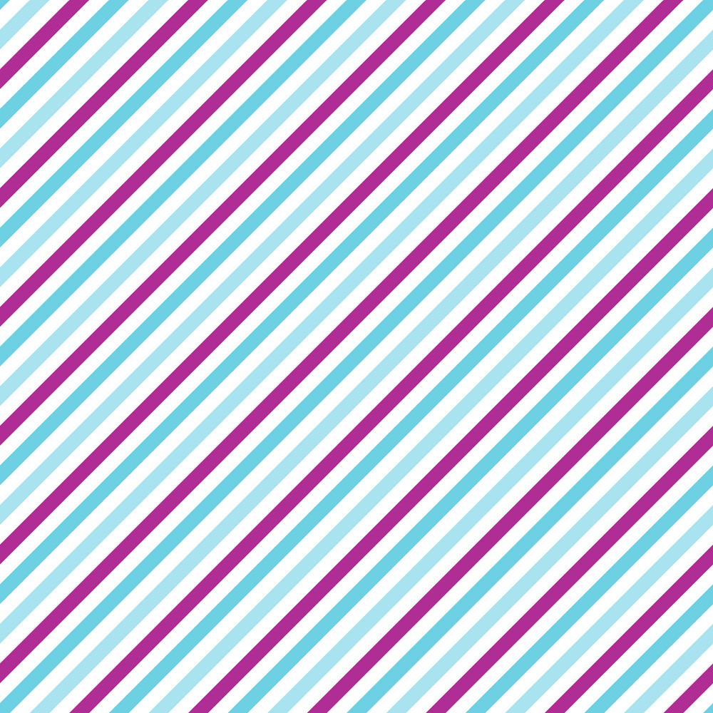 Blue, White, And Purple Diagonal Striped Pattern On Frozen Inspired Paper