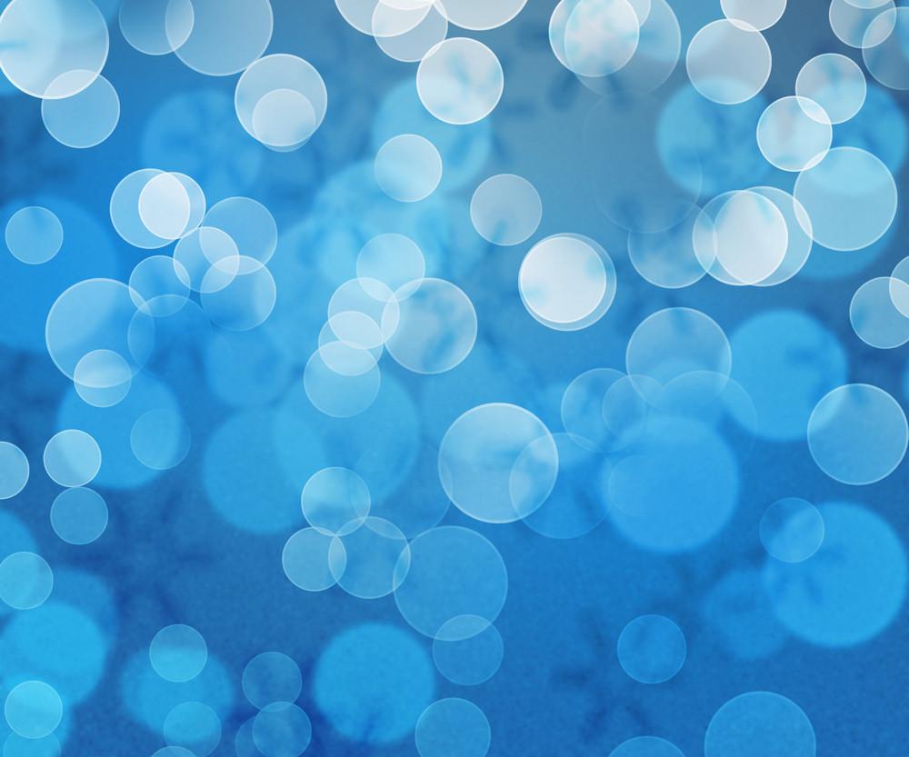 Blue Winter Bokeh Background
