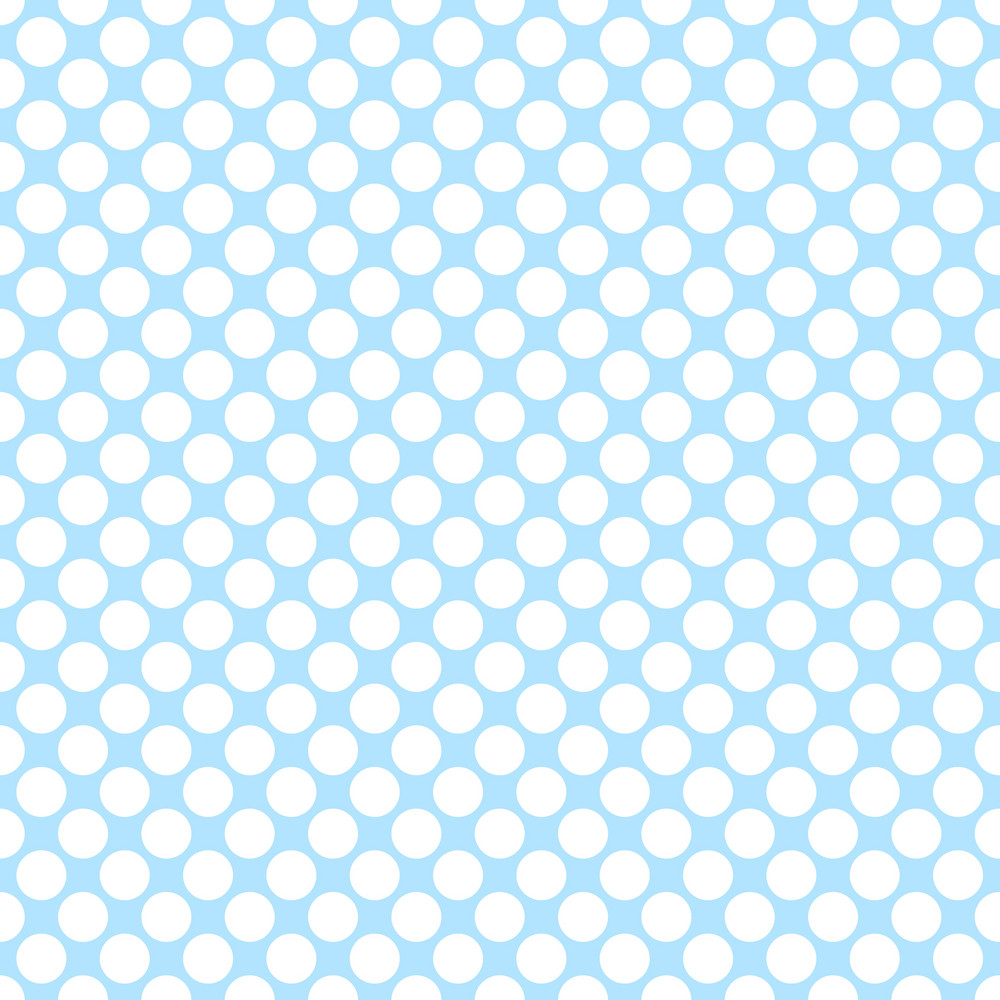 Pattern Of White Polka Dots On A Blue Background