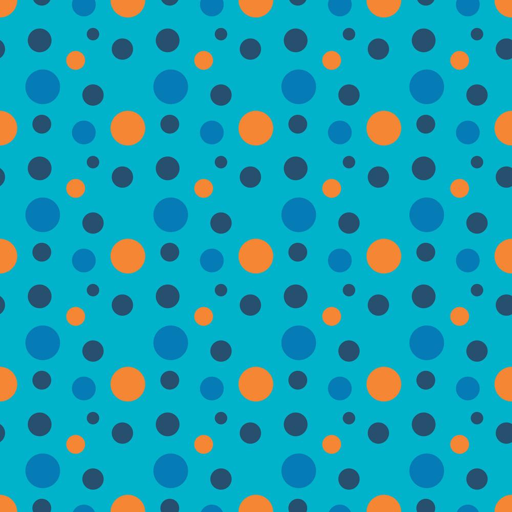 Orange And Blue Circles Pattern