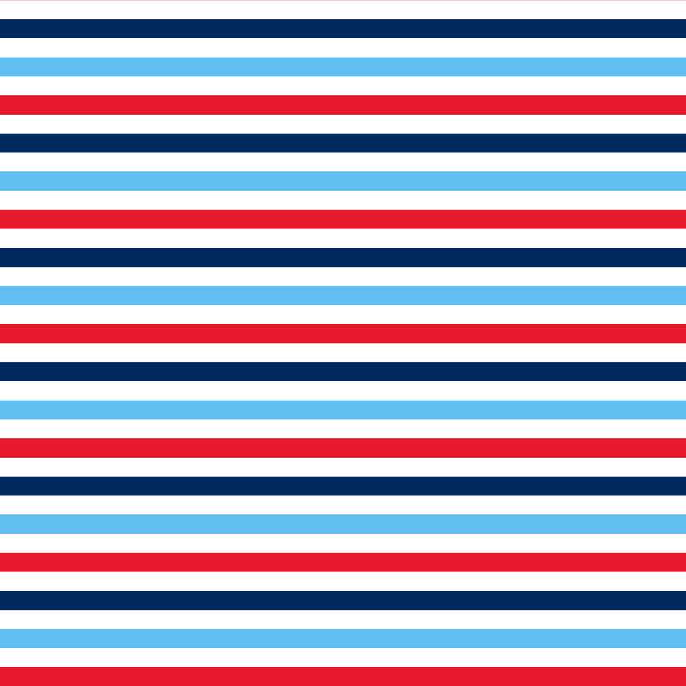 White, Red, And Blue Nautical Striped Pattern