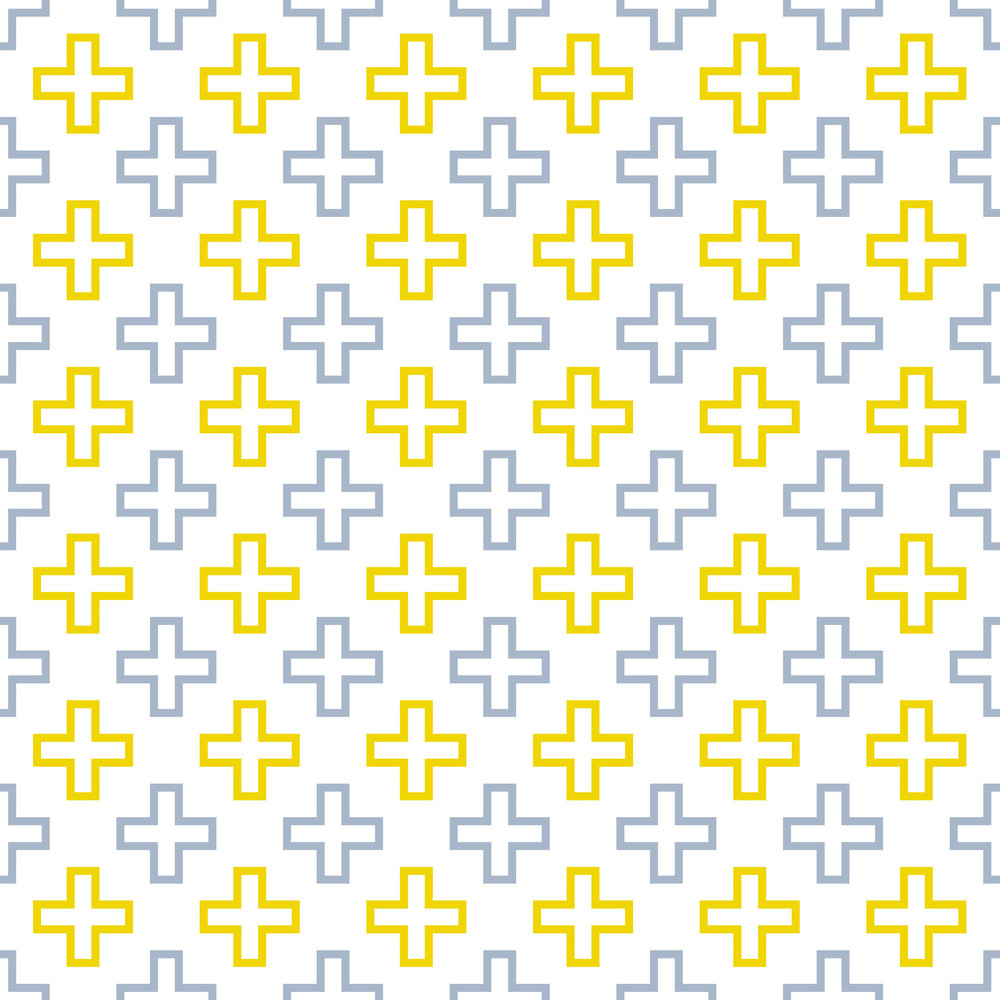 Blue And Yellow Cross Pattern
