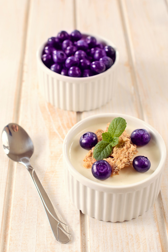 Blueberries And Corn Flakes