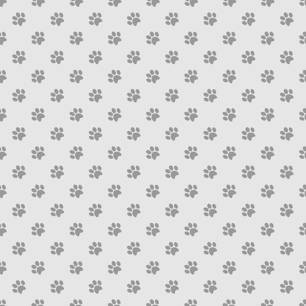 Purple Paw Print Pattern