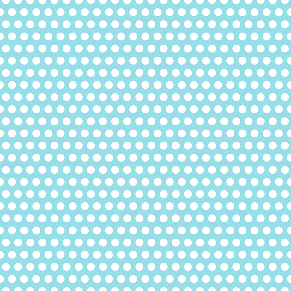 Pattern Of White Polka Dots On A Light Blue Background