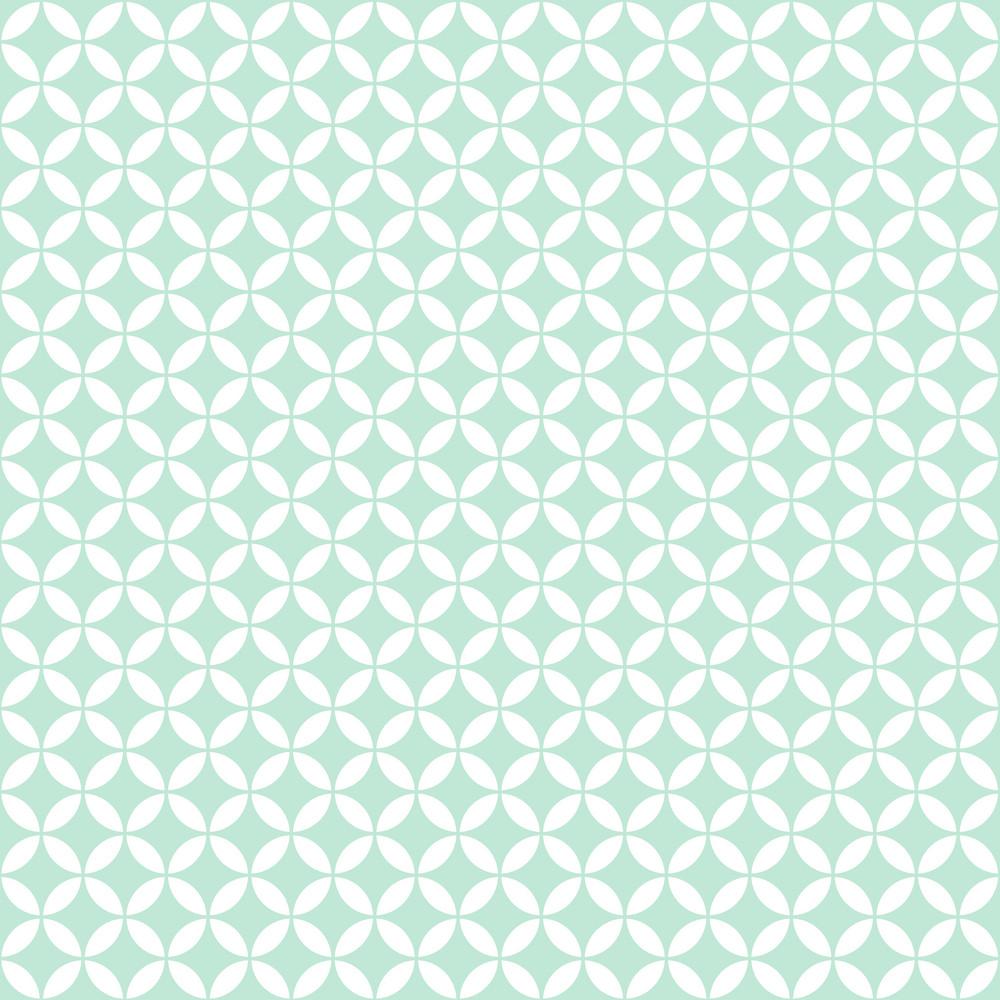 Blue And White Circle And Diamond Pattern