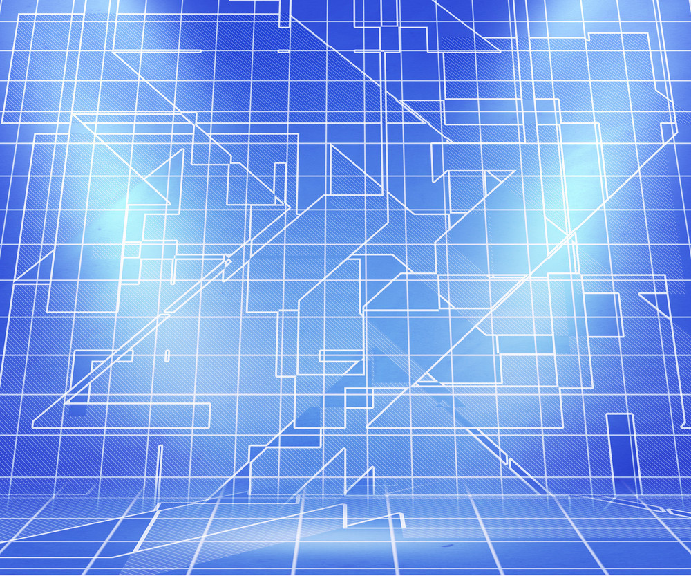 Blueprint Spotlight Abstract Background