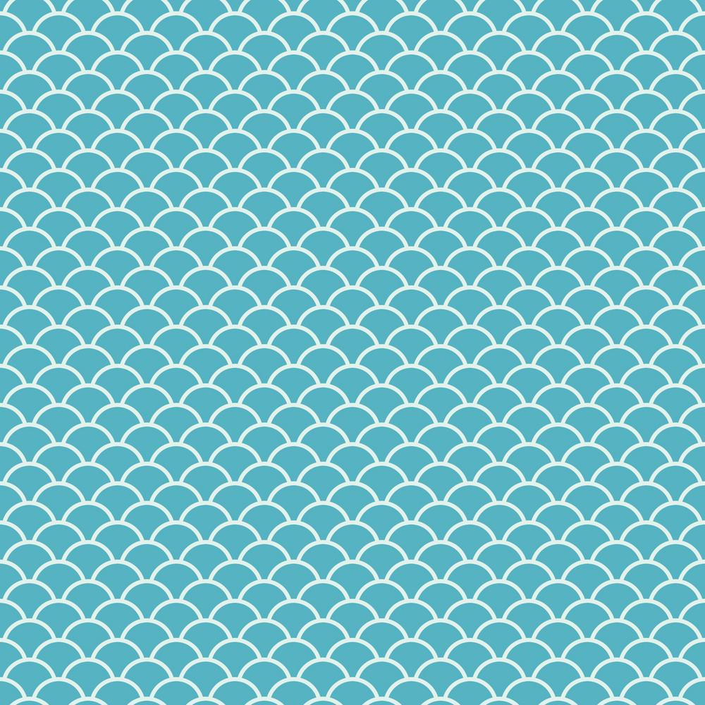 Blue Sea Fans Pattern