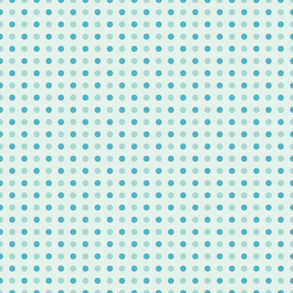 Blue Sea Polka Dots Pattern