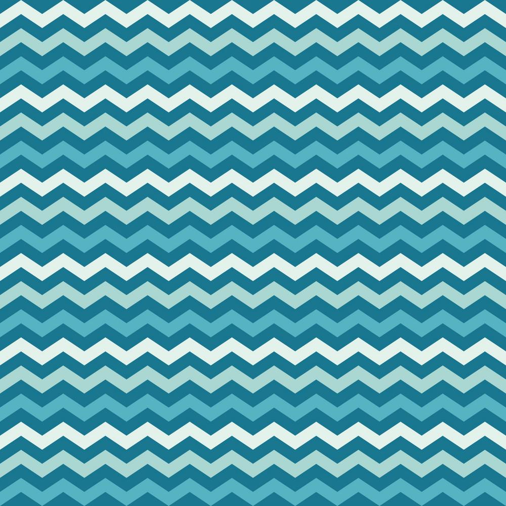 Blue Sea Chevron Pattern