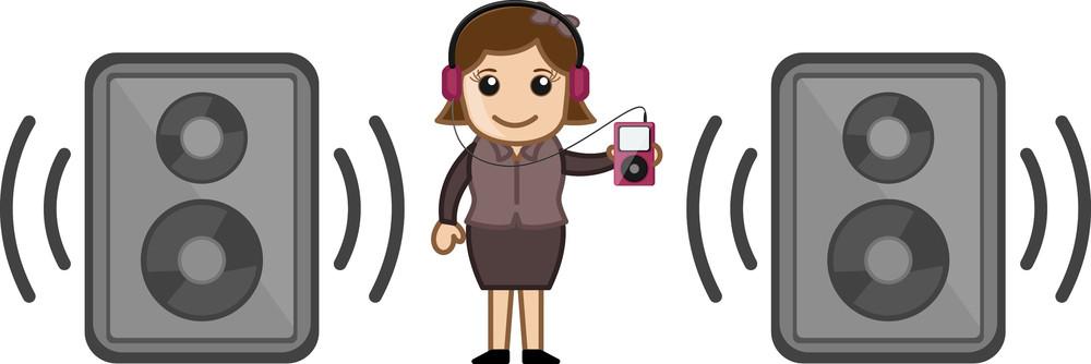 Bluetooth Speakers - Business Cartoons