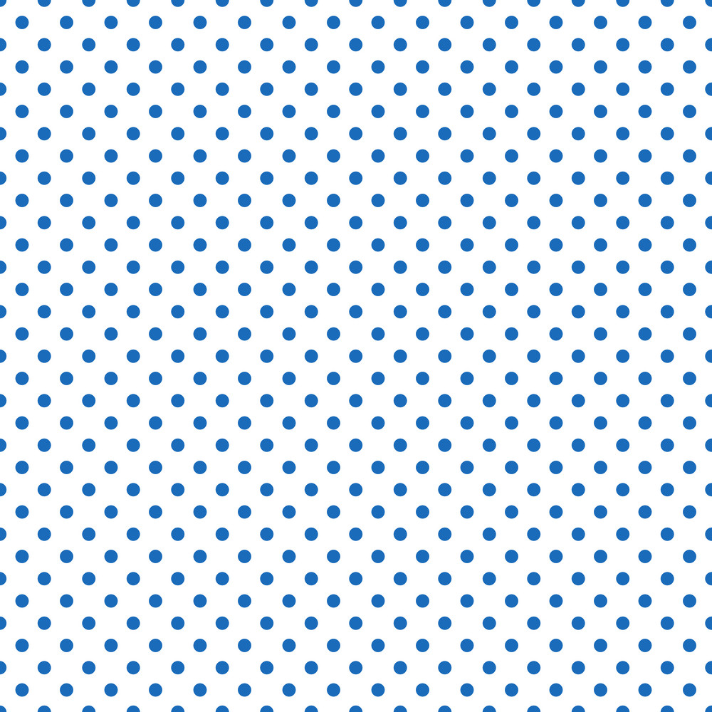 Pattern Of Blue Polka Dots On A White Background