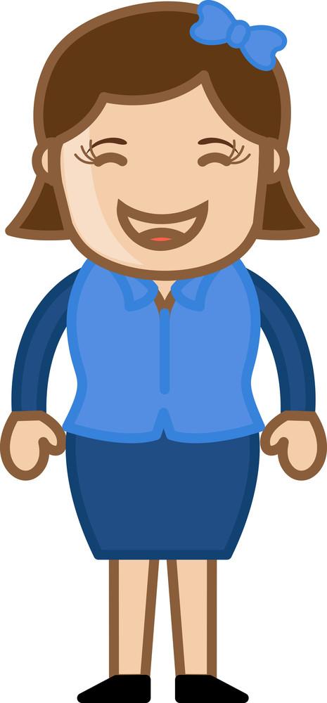 Blush Woman - Business Cartoon Character Vector