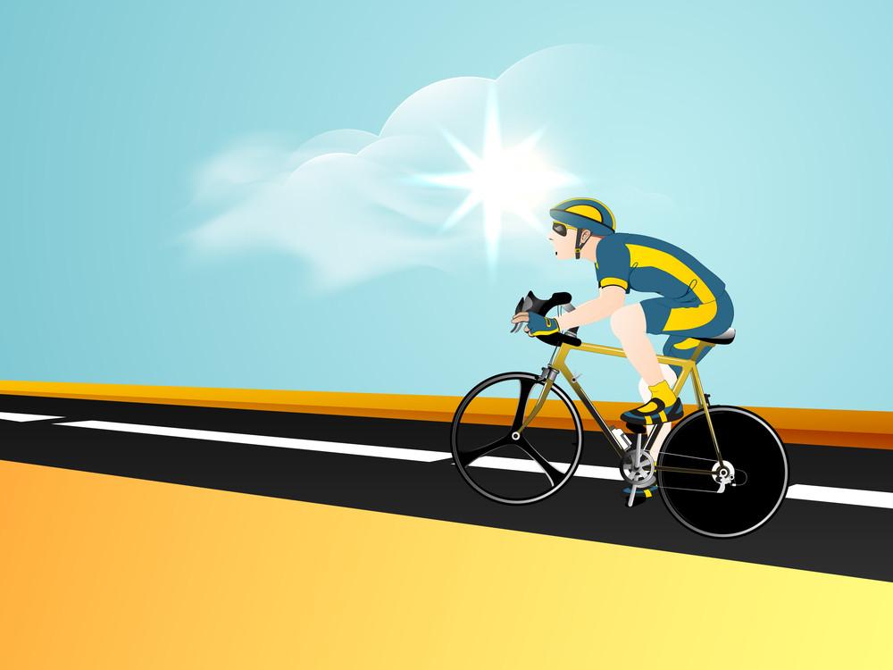 Bmx Cyclist On Track.