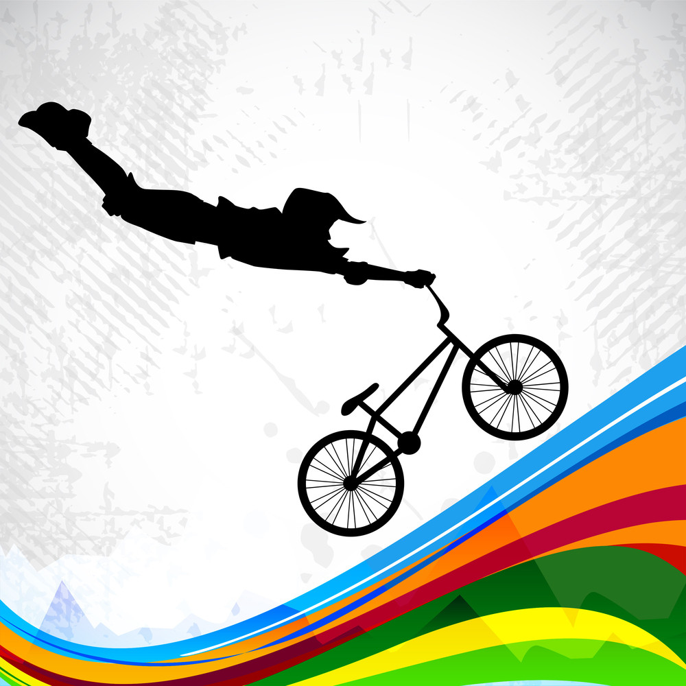 Bmx Cyclist Performing Stunt.