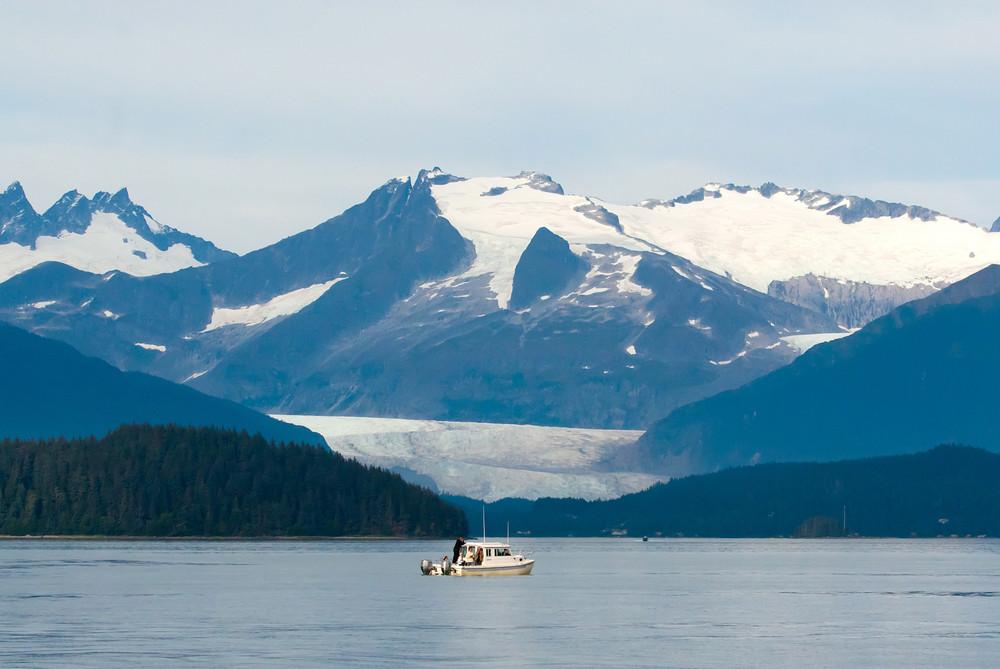 Boat In Alaska Water
