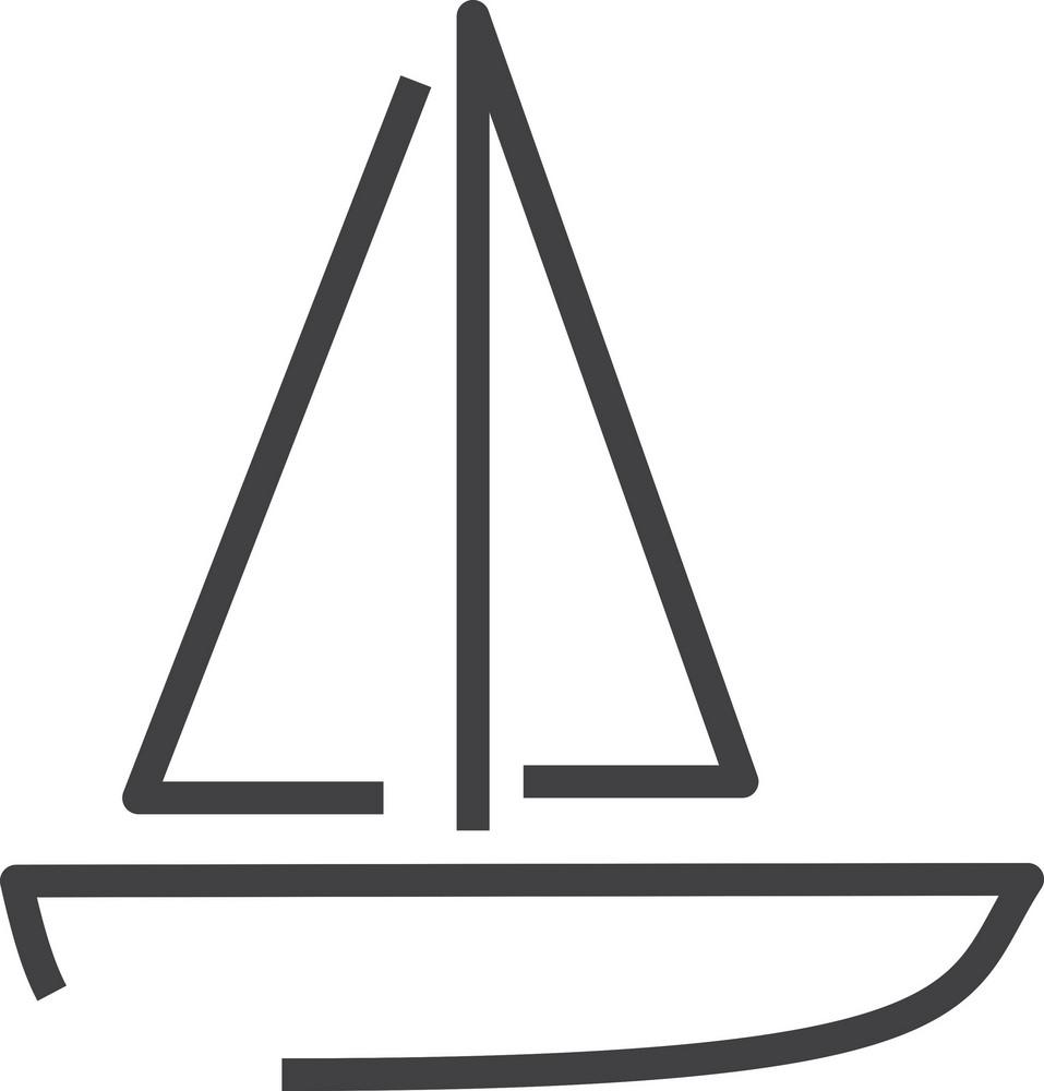 Boat Minimal Icon