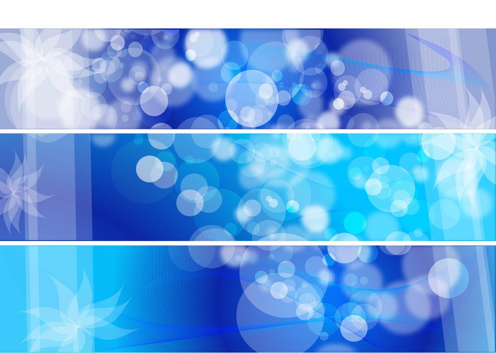 Bokeh Blue Vector Background