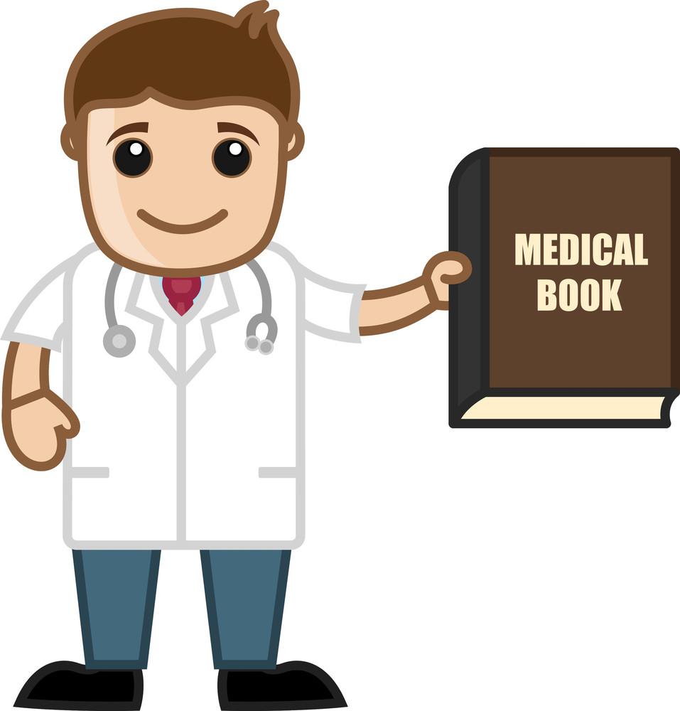 Book - Medical Cartoon Vector Character