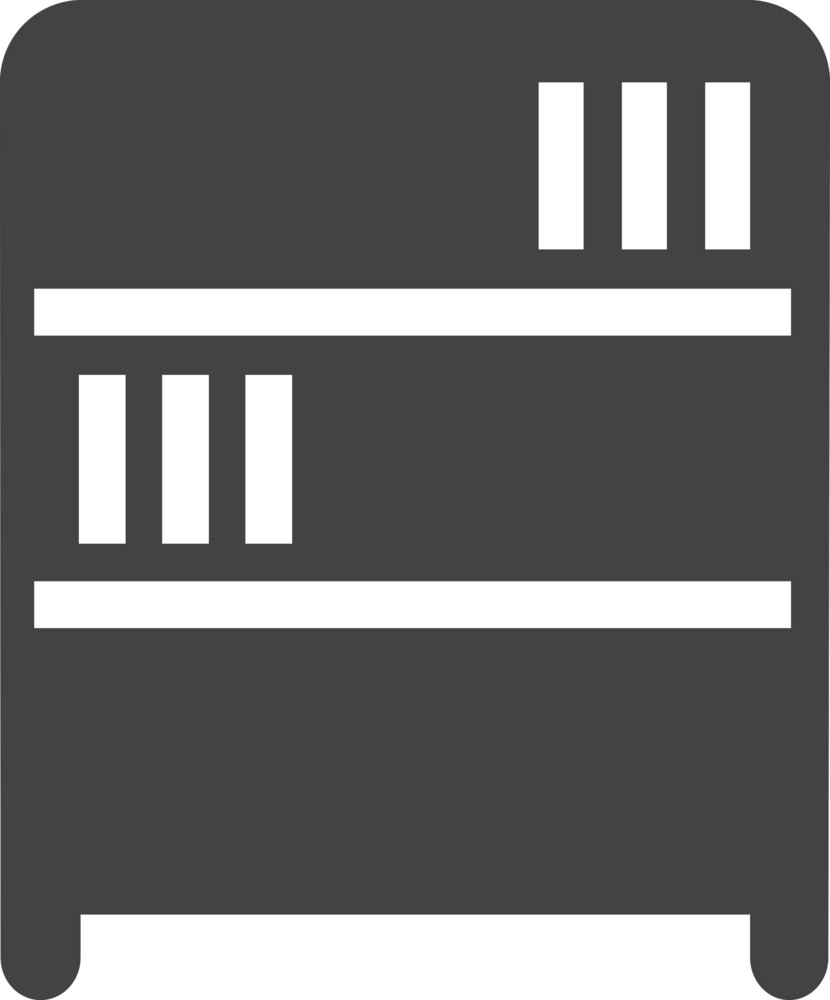 Bookcase Glyph Icon