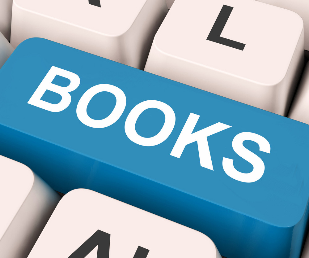 Books Key Means Novel Or Magazine