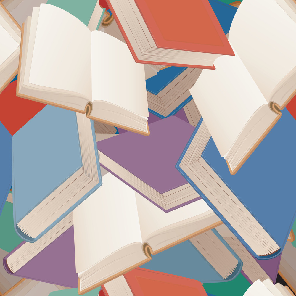 Books. Seamless Vector Background.