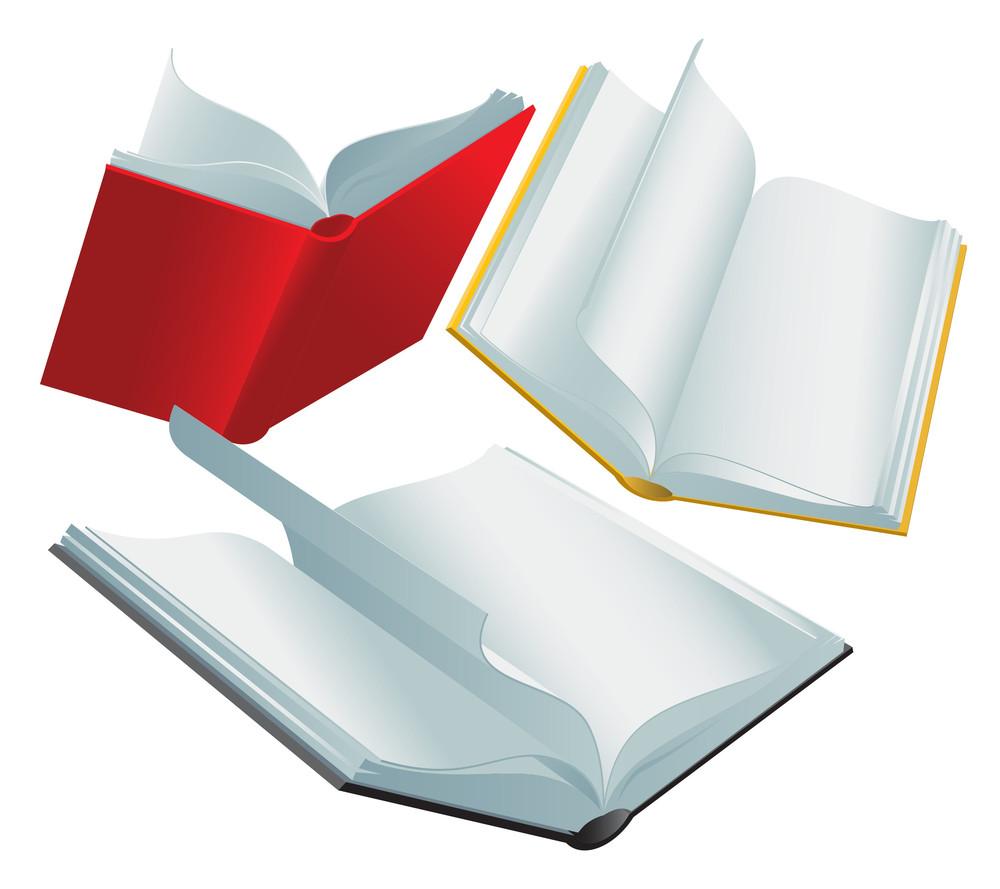 Books. Vector.