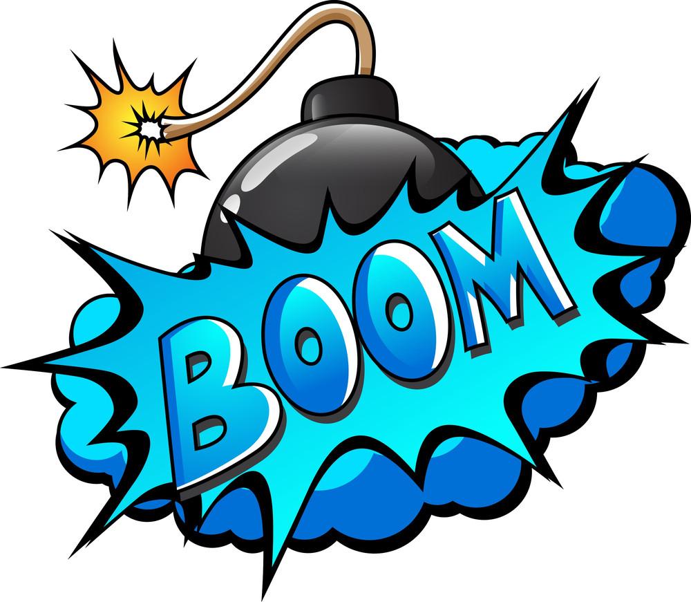 Boom - Comic Blast Expression Vector Text