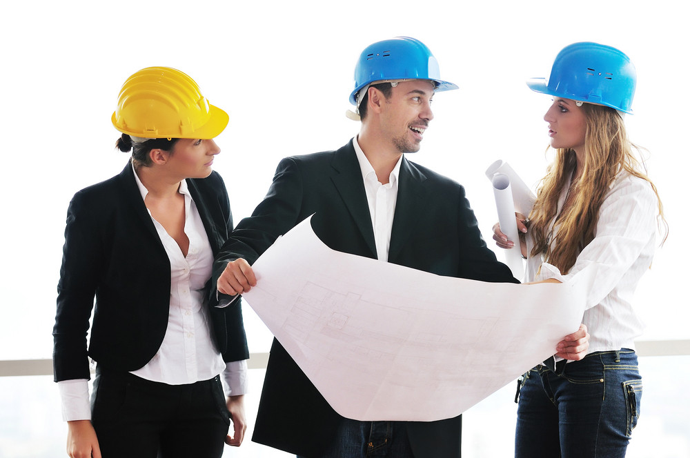 Young architect team