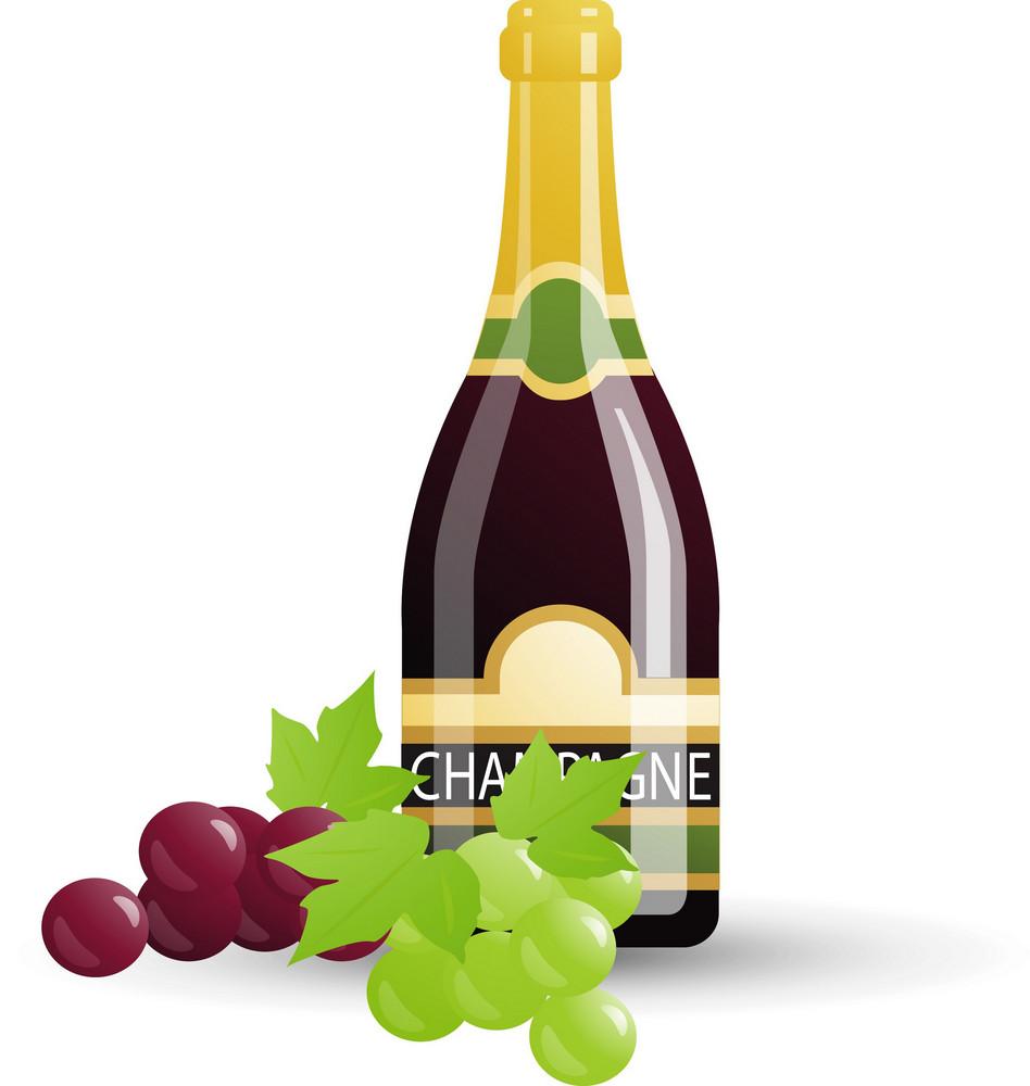Bottled Champagne Icon