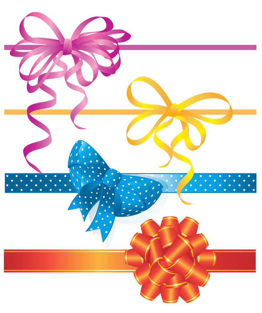 Bow Vector Decoration.