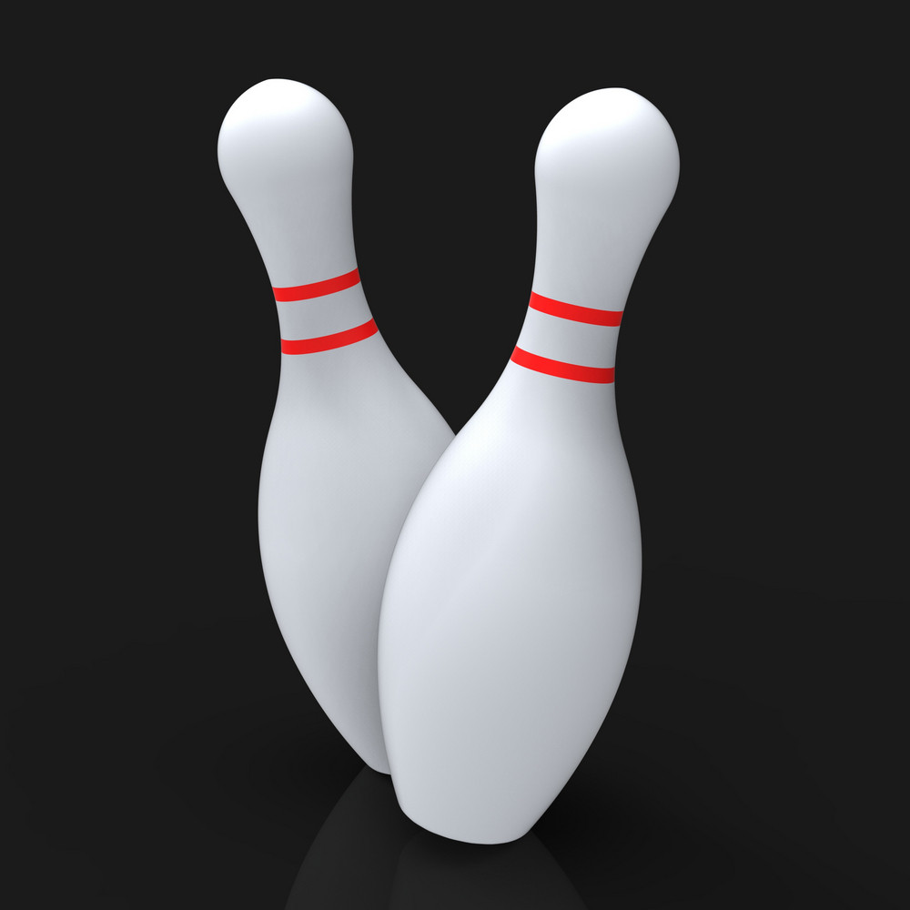 Bowling Pins Show Skittles Game