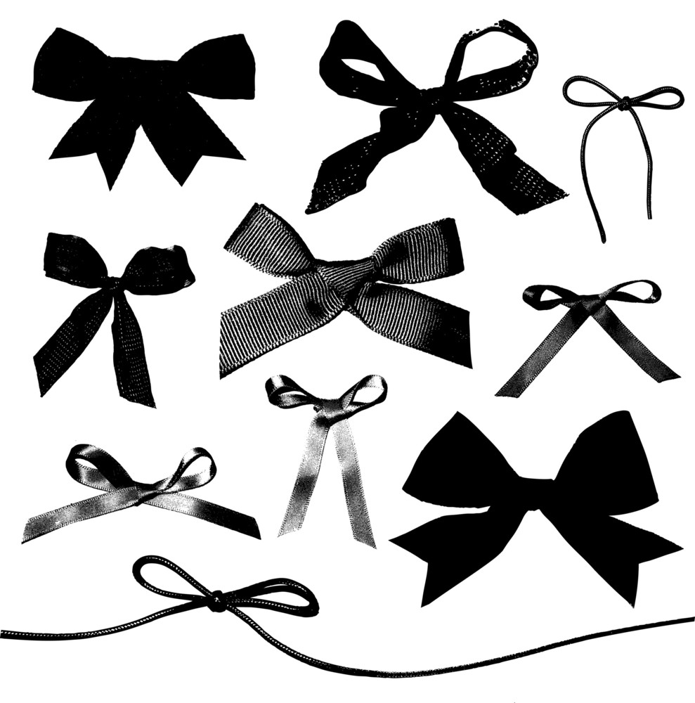 Bows And Ribbons Isolated On White Background